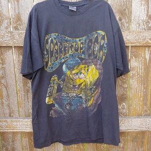 VTG Spongebob SPARK IT UP BOB MJ Weed Shirt 4XL